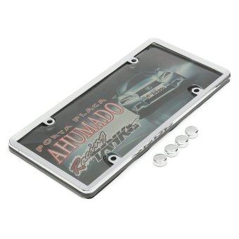 320872934595 CLEAR PLASTIC LICENSE PLATE SHIELD +BLACK FRAME bugcover tag protector plastic - intl - 4