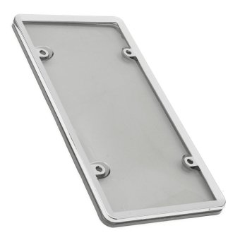 320872934595 CLEAR PLASTIC LICENSE PLATE SHIELD +BLACK FRAME bugcover tag protector plastic - intl - 5