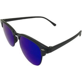 32sunny Harper Multicolored Blue/Yellow Reflector ClubmasterClassic Square Unisex Sunglasses - 2