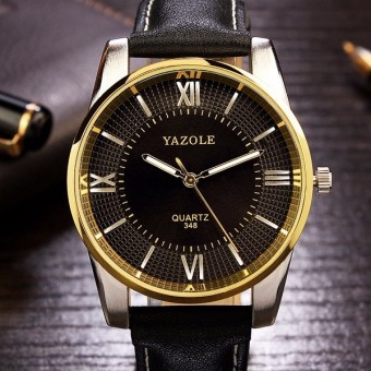 348 YAZOLE Leather Business Men Watch - intl - 2