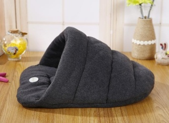 38 * 28cm Pet Supplies Kennel House Beds Removable Wash Pet Nest Cat Litter Slippers Cushion Grey - intl - 3