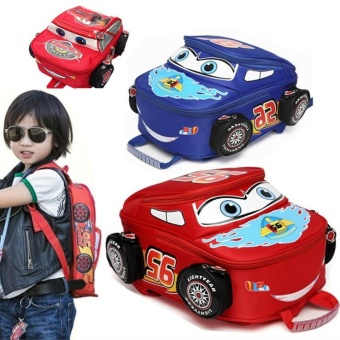 '3D Running Car Boy''s School Bag Kids Backpacks(Color:Main Pic) - intl'