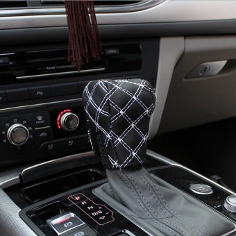 3PCS Fashion Car PU Interior Accessories Rearview Mirror Hand Brake Gear Shift Case Cover Soft Comfortable Adjustable Strap - intl - 4