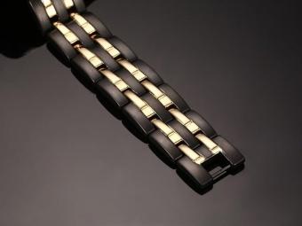 4 In 1 Bio Magnetic Bracelet Black Color IPG Gold Plated PowerSports Bracelets For Men Energy Bangles Hand Chain 10114 - intl - 4