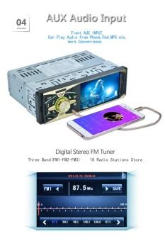 4011B 4.1inch 1 DIN MP5 Car Media Player - intl - 5