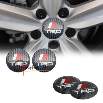 4pcs 60mm toyoyas TRD emblem Wheel Center Hub Caps Dust-proof Badge logo covers car styling Auto accessories - intl
