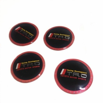 4Pcs Car Vehicle Wheel Center Cover Badge Decal Sticker Cap for Toyota - intl