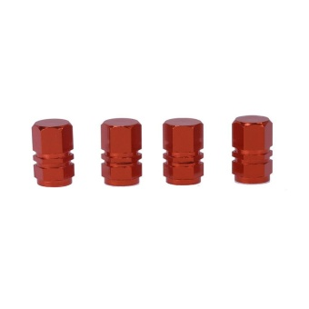 4pcs Colorful Aluminum Fuel Tank Gas Cap Breather Tube VentHose(Red) - intl