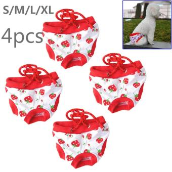 4Pcs Emale Pet Dog Puppy Diaper Pants Physiological Sanitary ShortPanty S/M/L/XL - intl Price Philippines