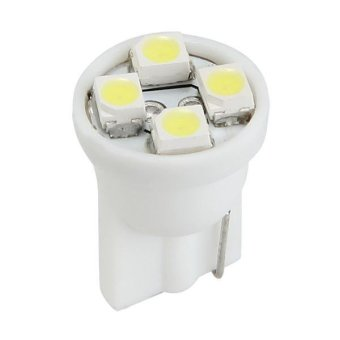 50 x T10 SMD 3528 4 LED White Side Wedge Panel Bulb Lamp Light Car