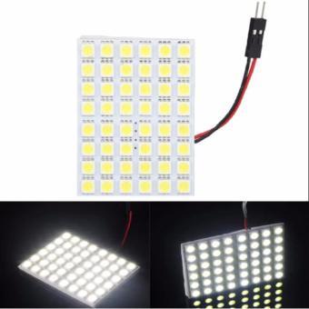 5050 48SMD Car LED White Interior Dome Reading Light Panel Bulb