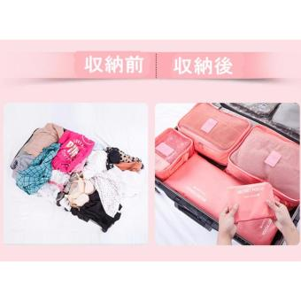 6 in 1 Travel Luggage Packing Bags (Pink) with Free Roll-N-GoOrganizer - 3