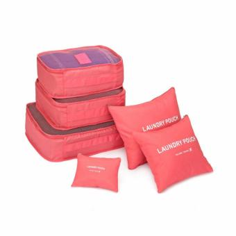 6 in 1 Travel Luggage Packing Bags (Pink) with Free Roll-N-GoOrganizer - 2