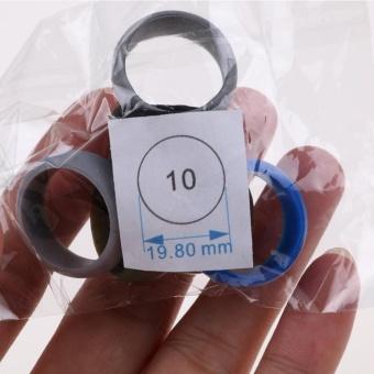 6 Pcs/Set Rubber Silicone Wedding Ring Band Sport Outdoor Flexible Men Women Gift - intl - 2