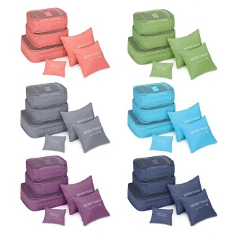 6 Pcs/Set Square Travel Luggage Storage Bags Clothes Organizer Pouch Case - intl - 4