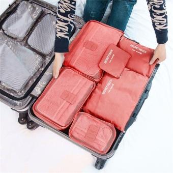6 Pcs/Set Square Travel Luggage Storage Bags Clothes Organizer Pouch Case - intl - 3