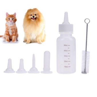 6pcs Puppy Kitten Feeding Bottle Pet Dog Cat Nursing Water MilkFeeder Kit (White) - intl - 2