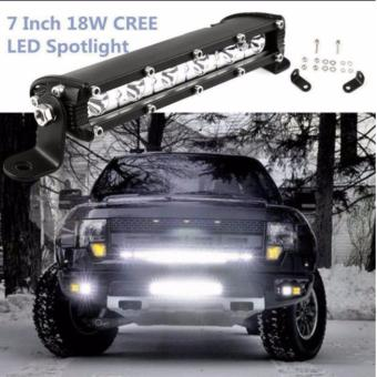 7 inch 18W Cree Chips LED Spot Ultra Slim LED Light Bar Work light(WHITE)