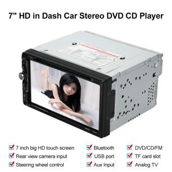 "7"" Universal 2 Din HD Bluetooth Car Stereo DVD CD Player Touch Screen Radio Entertainment Multimedia USB/TF FM Aux Input TV - intl - 4"