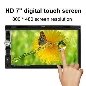 "7"" Universal 2 Din HD Bluetooth Car Stereo DVD CD Player Touch Screen Radio Entertainment Multimedia USB/TF FM Aux Input TV - intl - 3"
