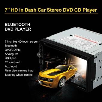 "7"" Universal 2 Din HD Bluetooth Car Stereo DVD CD Player Touch Screen Radio Entertainment Multimedia USB/TF FM Aux Input TV - intl - 5"