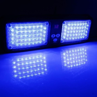 86LED Beacon Vehicle Car Sun Visor Strobe Flash Light 12V Blue -intl