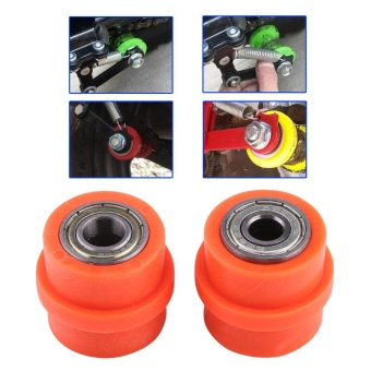 8mm Drive Chain Pulley Roller Slider Tensioner Wheel Guide ForStreet Bike Motorcycle Orange - intl