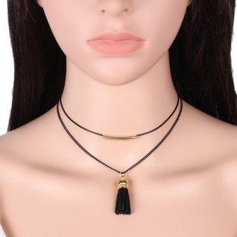 9 Pcs/Set Lace Choker Necklaces Collar Gothic Necklace for Women - intl - 3