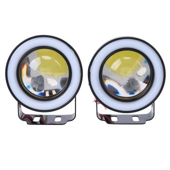 2pcs 3.5″ car auto blue angel eye fog led light cob halo workinglamp – intl