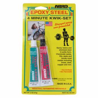 Abro Steel Adhesive 2oz. (57g.) (2 pcs/cd)