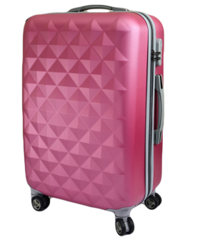 ABS Classic Diamond Stone Universal Wheel Password Code LockLuggage Suitcase 20 Inch (Pink)