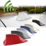 ABS Plastic Car Roof Style Shark Fin AM/FM Antenna Radio Signal Function Aerials For BMW and Most Cars (White))