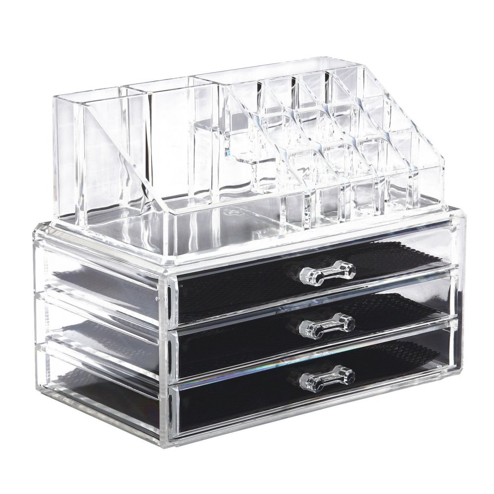 Acrylic Cosmetic Organizer Makeup And Jewelry Storage Case Display - Acrylic makeup organizer