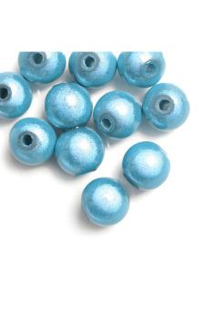 Acrylic Miracle Round Beads Set of 40 Blue