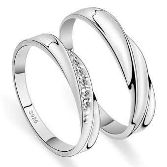 Adjustable Couple Rings 925 Silver Romentic Lover Ring Jewelry E004 - intl