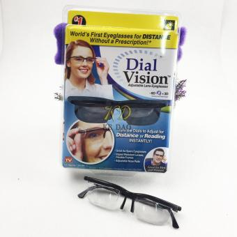 Adjustable Eye Glasses Vision Reader Glasses Including Case (Size: One Size) - intl - 3