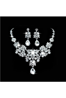 Alloy Rhinestone Bridal Jewellery Set (White) (Intl)