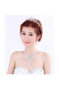 Alloy Rhinestone Bridal Jewellery Set (White) (Intl) - picture 2