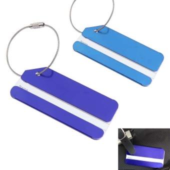Aluminum Alloy Luggage Tag Baggage Tag Handbag Tag Blue (Intl) - picture 2