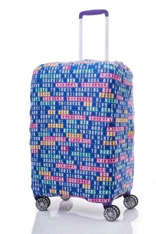American Tourister Travel Accessories Spandex Luggage Cover Large (Blue Sign Board)