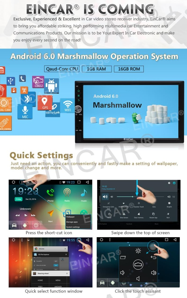 Philippines | Android 6 0 Quad Core HD Car Radio Stereo In