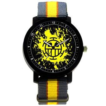 ANIME ZONE One Piece Anime Trafalgar D. Law Trendy Nylon Strap Anime Watch (Yellow /Black) - 2