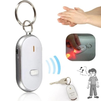 Anti Lost Key Finder Keychain with LED Light (Assorted Colors)