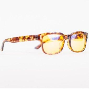Anti-Radiation, Anti-Glare Computer Reading Eyeglasses(Brown/Animal Print) - 3