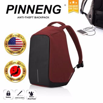 Anti-Theft Backpack (Red is the New Black)