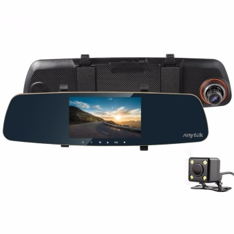 Anytek T25 5.0 inch HD Car Rear View Mirror Dash Camera Recorder (Gold)