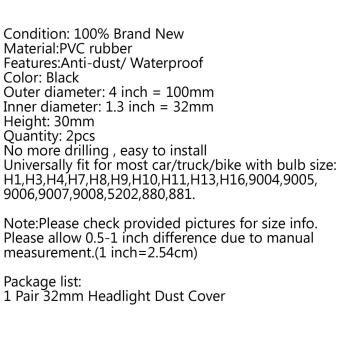 Areyourshop 2X Universal Rubber Housing Seal Cap Dust Cover LEDBulbs HID Headlight 32mm H11 - intl - 5