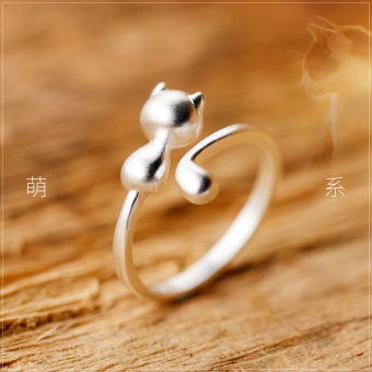A'ROCH Korean-style female ring silver ring (S925 silver ring Matte) (S925 silver ring Matte)