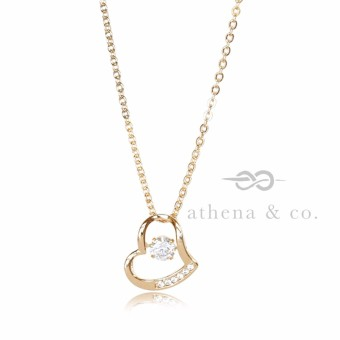 Athena co 18k gold plated sabrina open heart diamond pendant 18k gold plated sabrina open heart diamond pendant necklace aloadofball Images