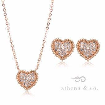 Athena & Co. 22k Be My Forever Jewelry Set (Rose Gold)